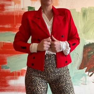 Vintage Red Double-breasted Jacket size 0